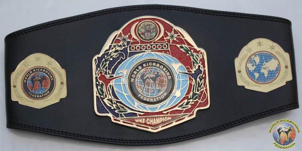 WKF continental champion belt
