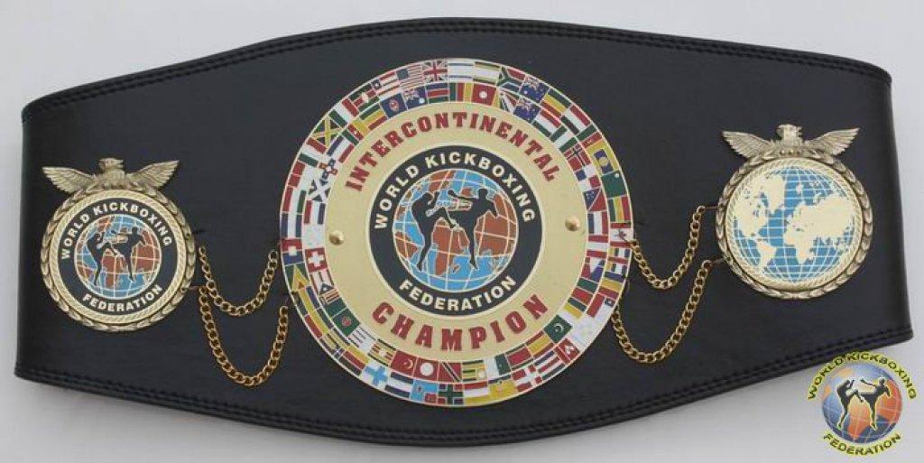 WKF intercontinental champion belt