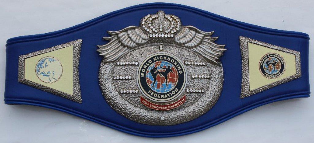 WKF MMA continental champion belt