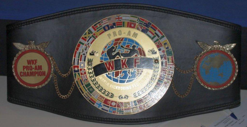WKF PRO-AM title belt