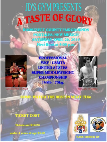Portales, NM Fight Poster