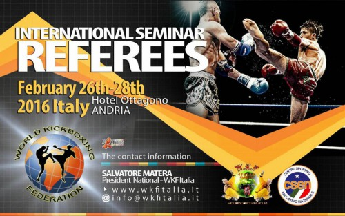 WKF REFEREE Seminar Andria
